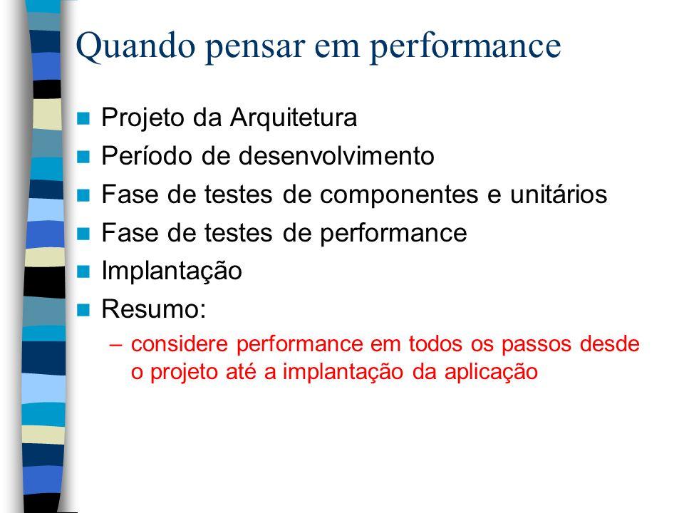 Quando pensar em performance