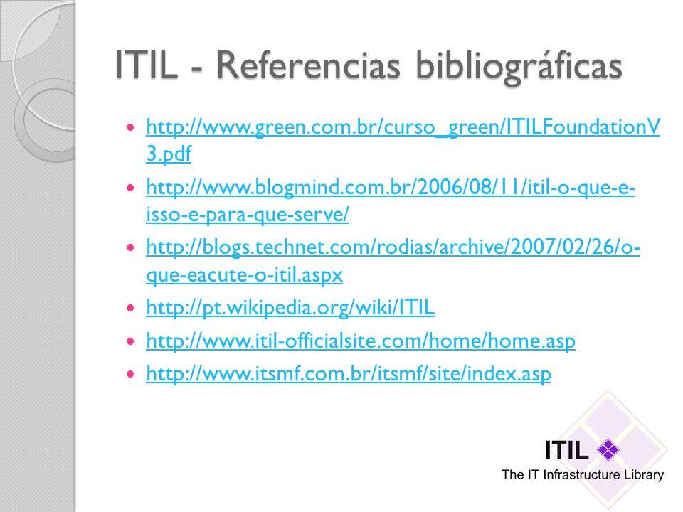 ITIL - Referencias bibliográficas