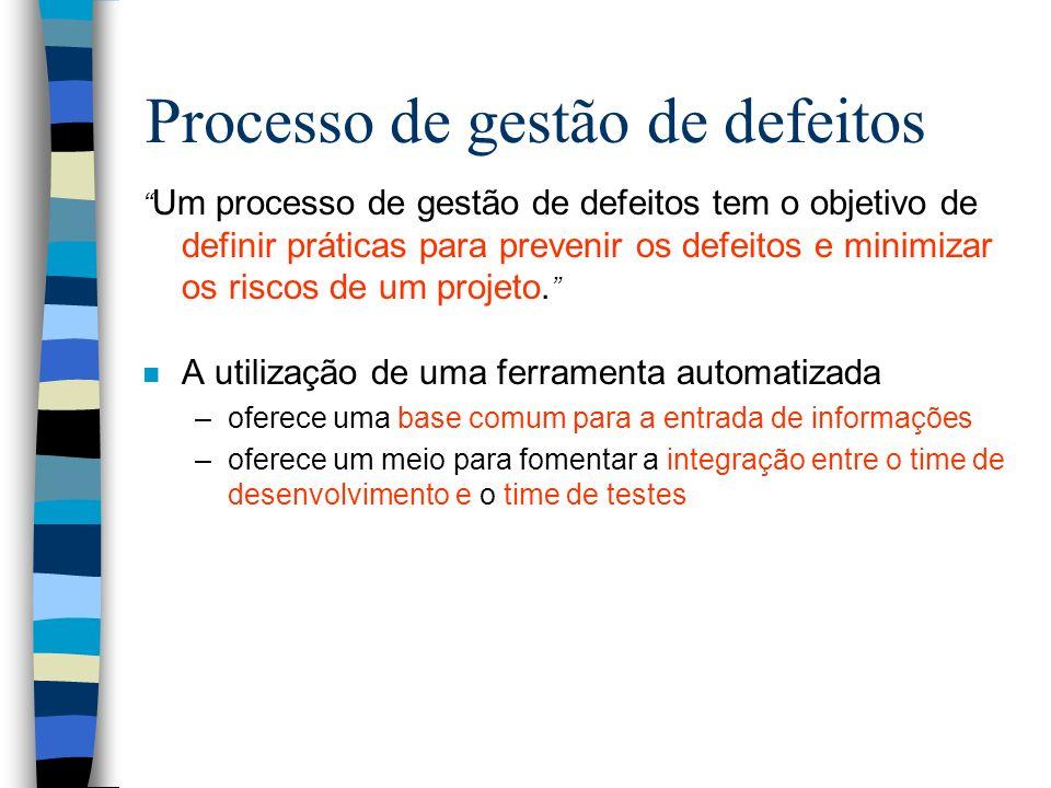 Processo de gestão de defeitos