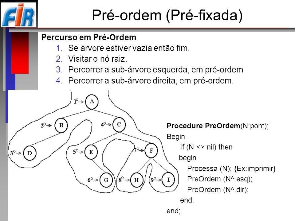Pré-ordem (Pré-fixada)