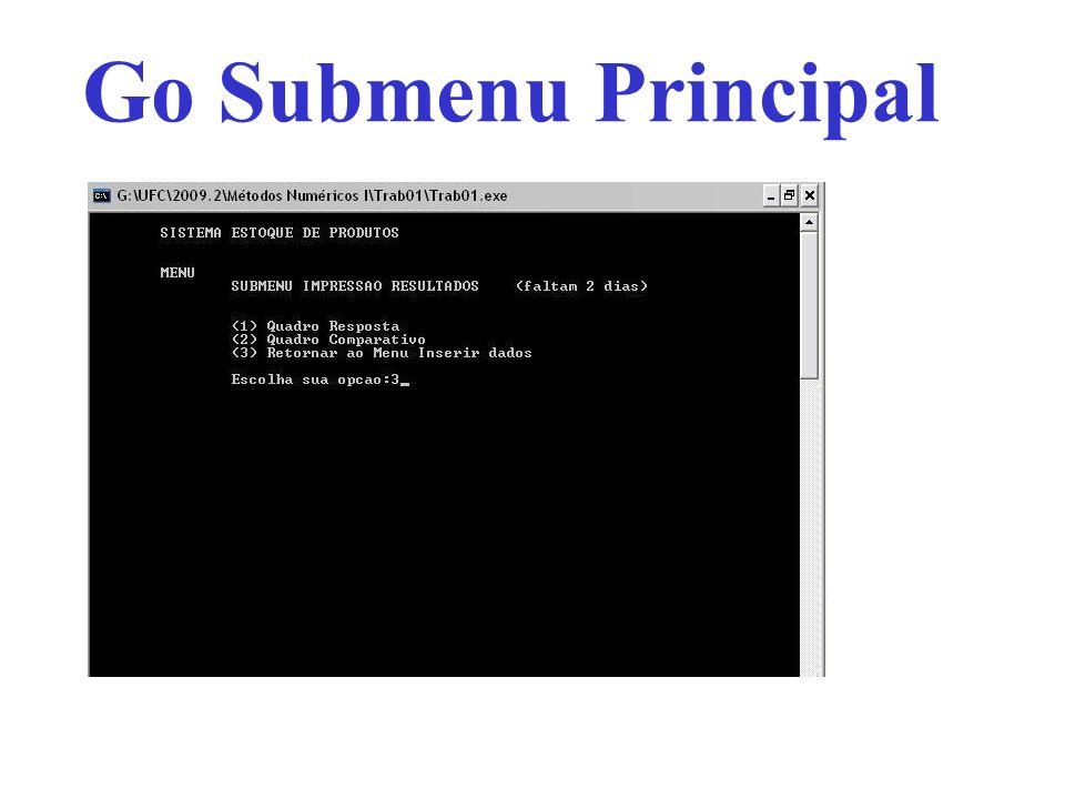 Go Submenu Principal