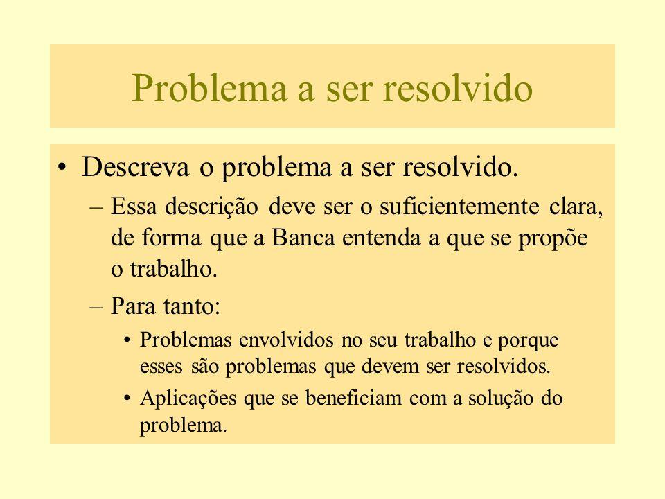 Problema a ser resolvido