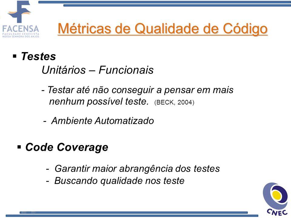 Métricas de Qualidade de Código