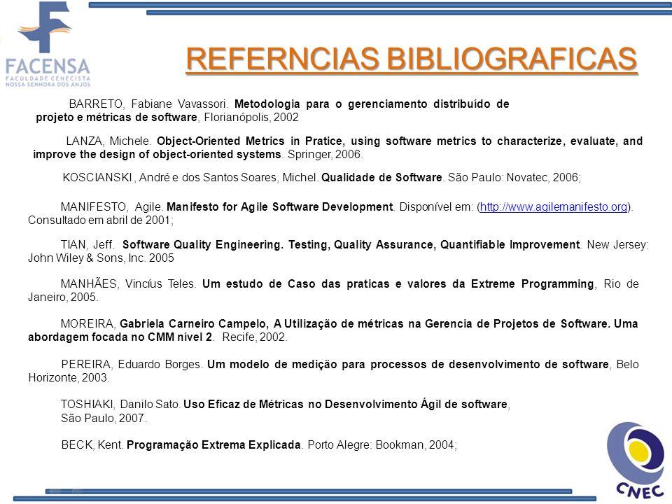 REFERNCIAS BIBLIOGRAFICAS