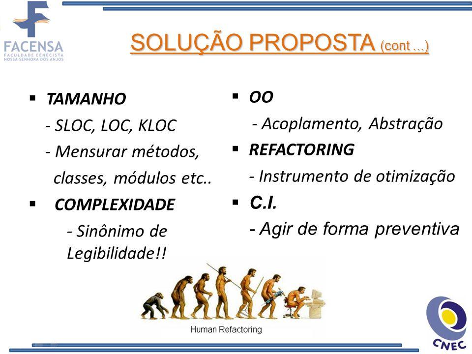 SOLUÇÃO PROPOSTA (cont ...)