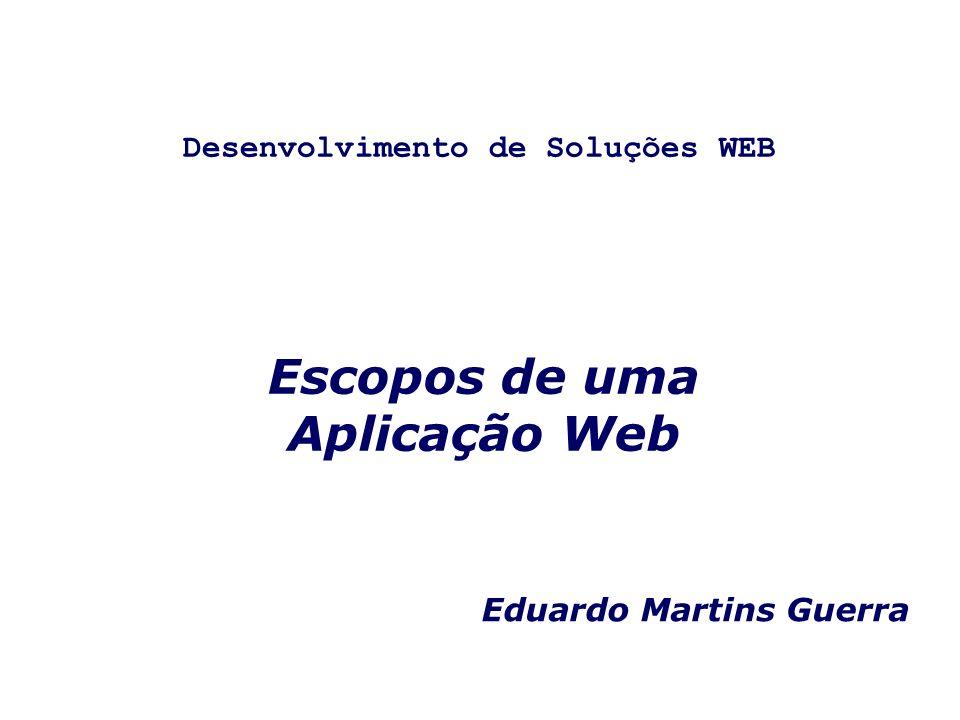 Desenvolvimento de Soluções WEB Escopos de uma Aplicação Web