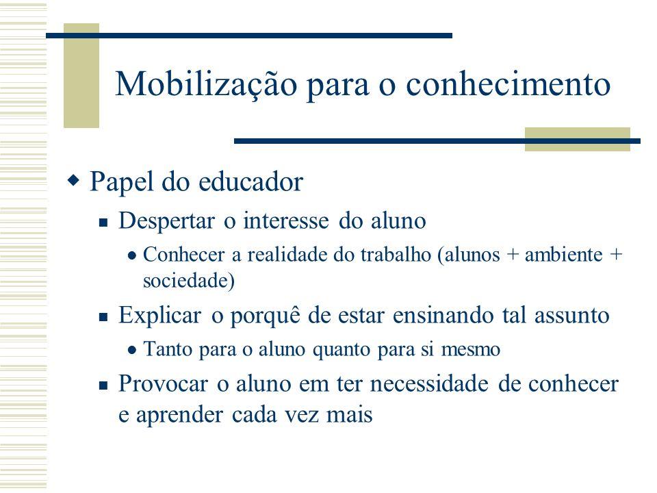 Mobilização para o conhecimento