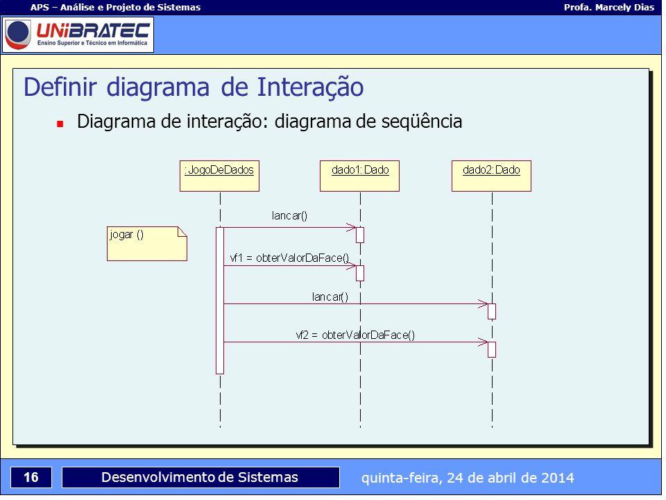 Definir diagrama de Interação