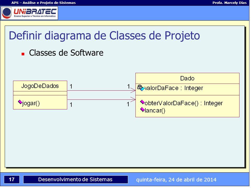 Definir diagrama de Classes de Projeto