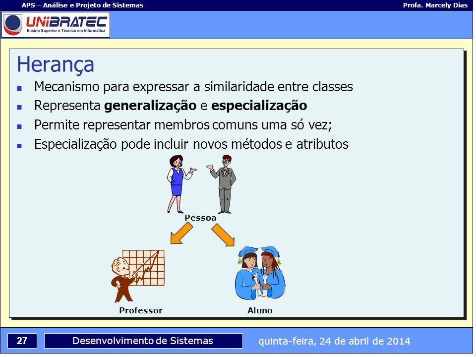 Herança Mecanismo para expressar a similaridade entre classes