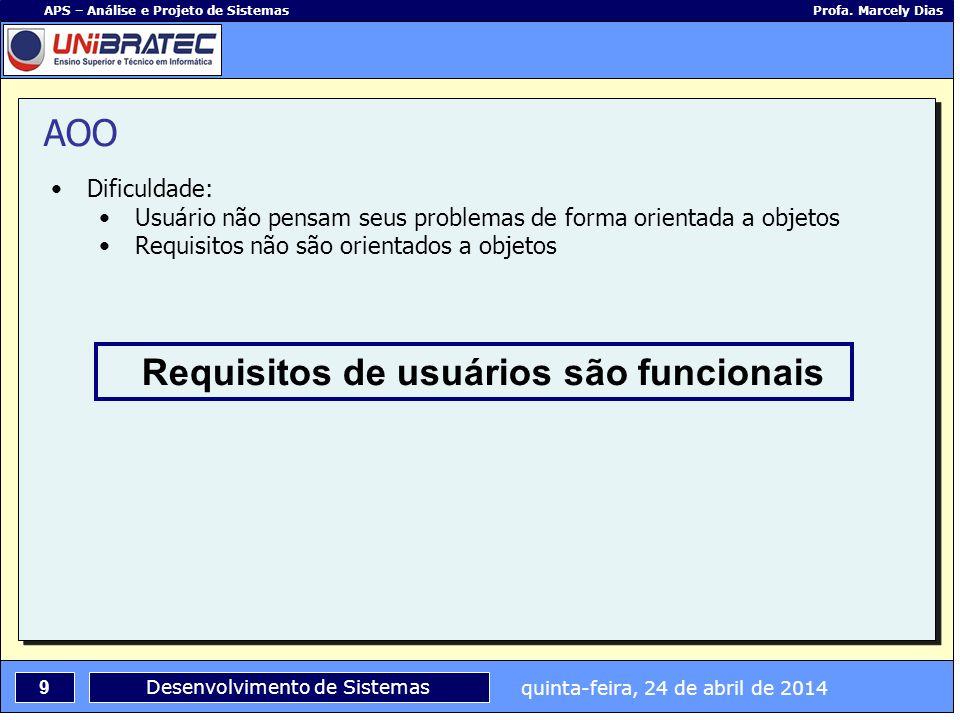 Requisitos de usuários são funcionais