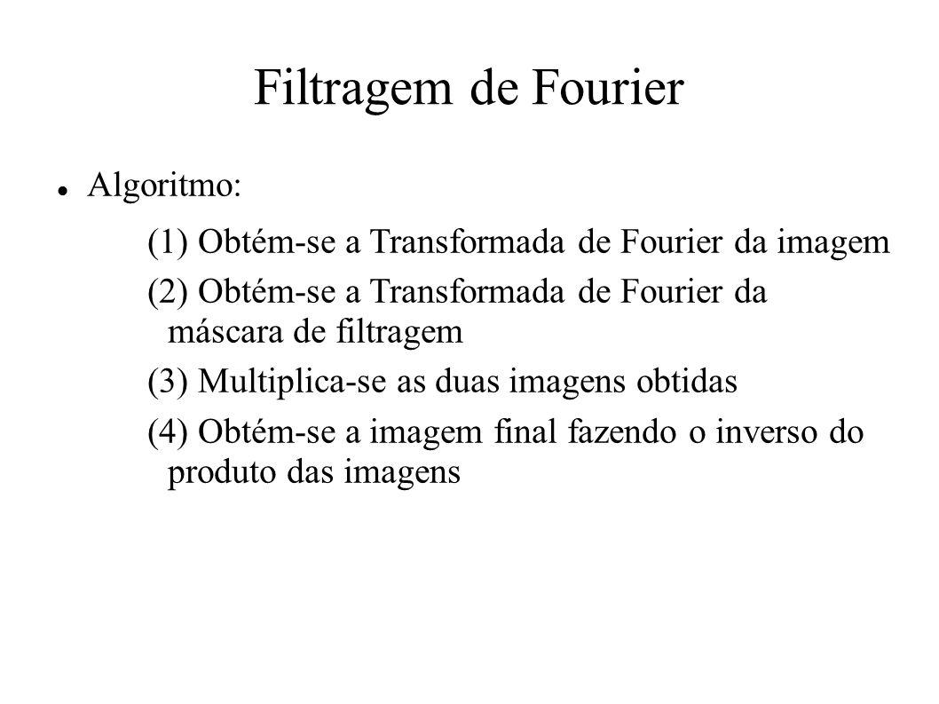 Filtragem de Fourier Algoritmo: