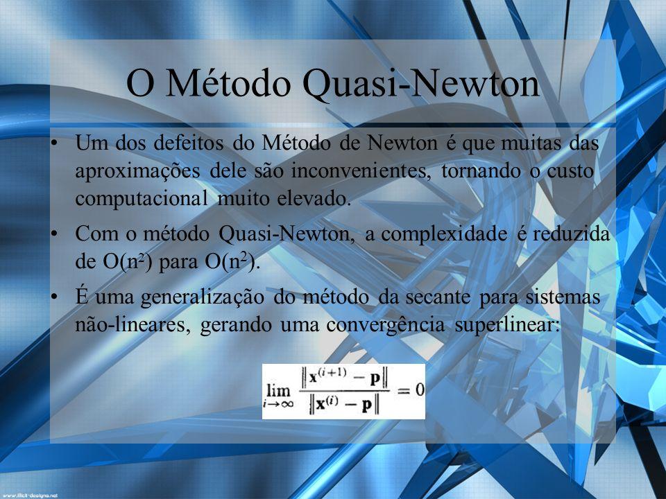 O Método Quasi-Newton