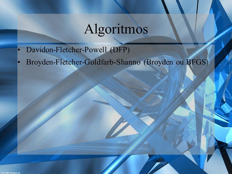 Algoritmos Davidon-Fletcher-Powell (DFP)