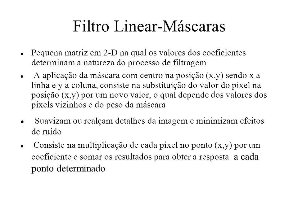 Filtro Linear-Máscaras