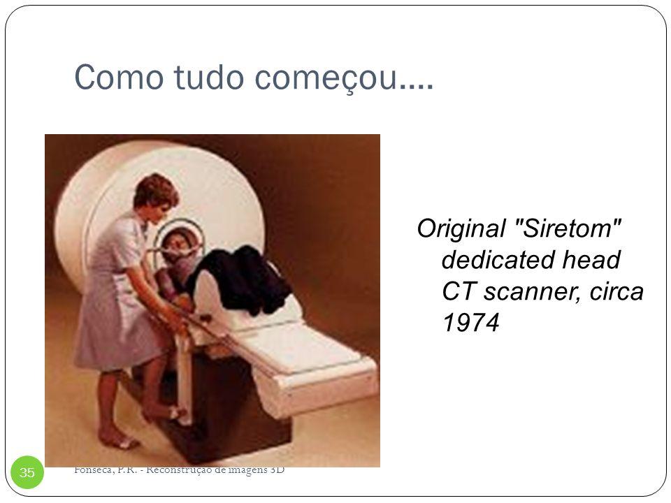 Como tudo começou.... Original Siretom dedicated head CT scanner, circa 1974.
