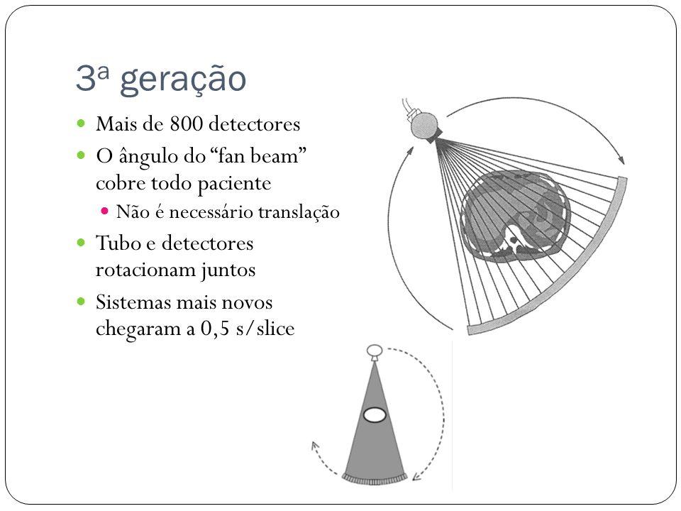 3a geração Mais de 800 detectores