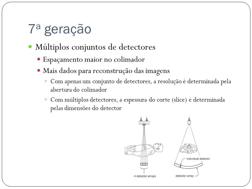 7a geração Múltiplos conjuntos de detectores