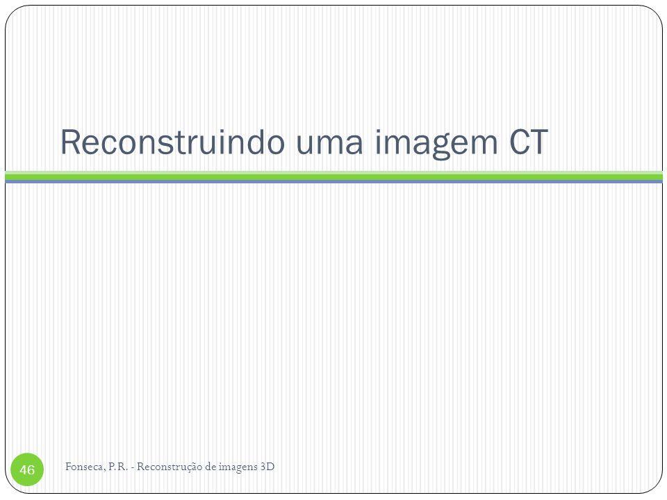 Reconstruindo uma imagem CT