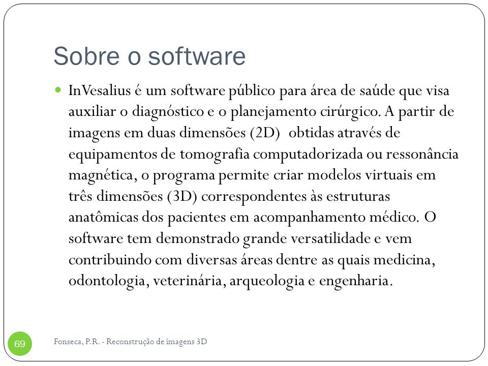 Sobre o software