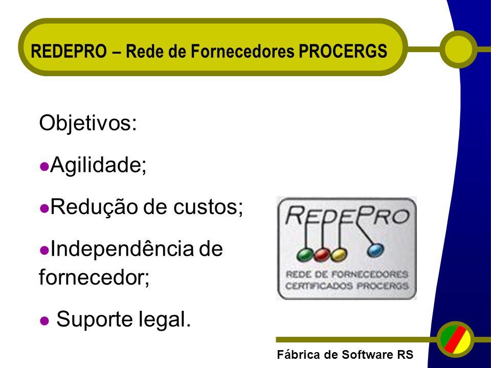 Independência de fornecedor;