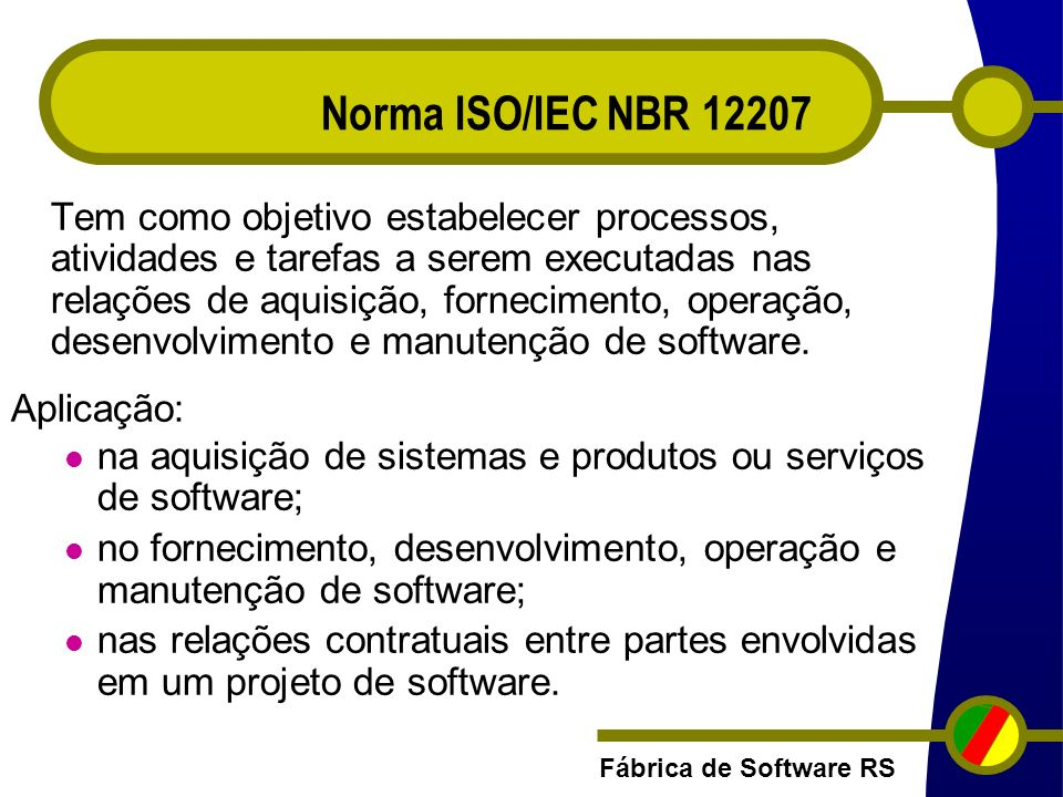 Norma ISO/IEC NBR 12207