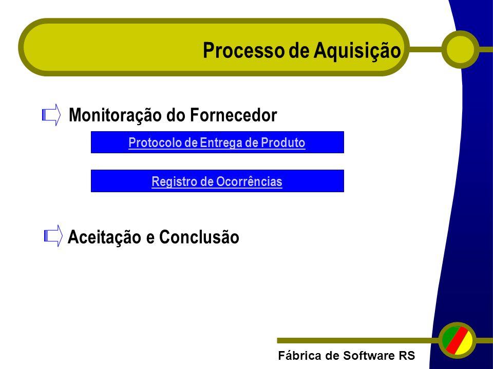 Protocolo de Entrega de Produto Registro de Ocorrências