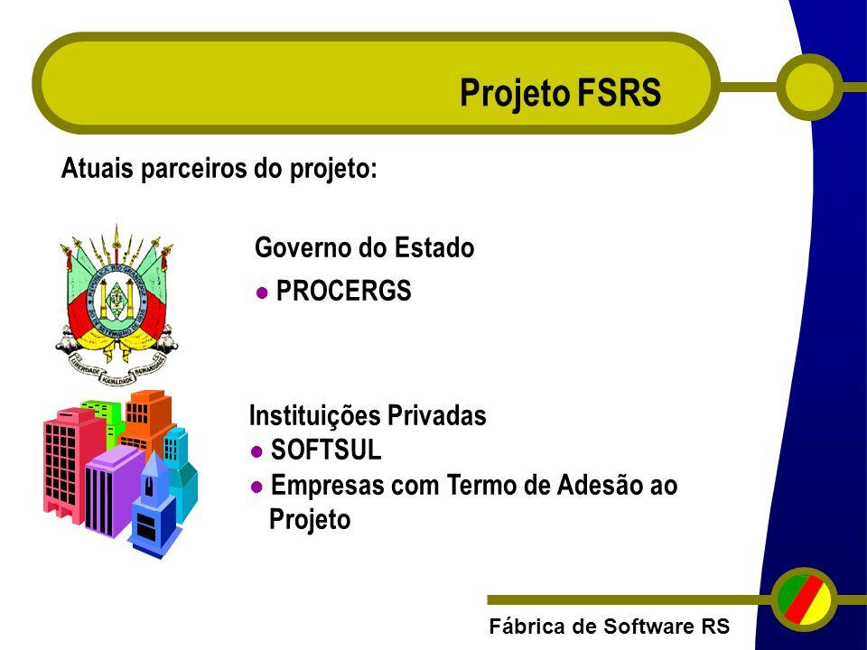 Projeto FSRS Atuais parceiros do projeto: Governo do Estado PROCERGS
