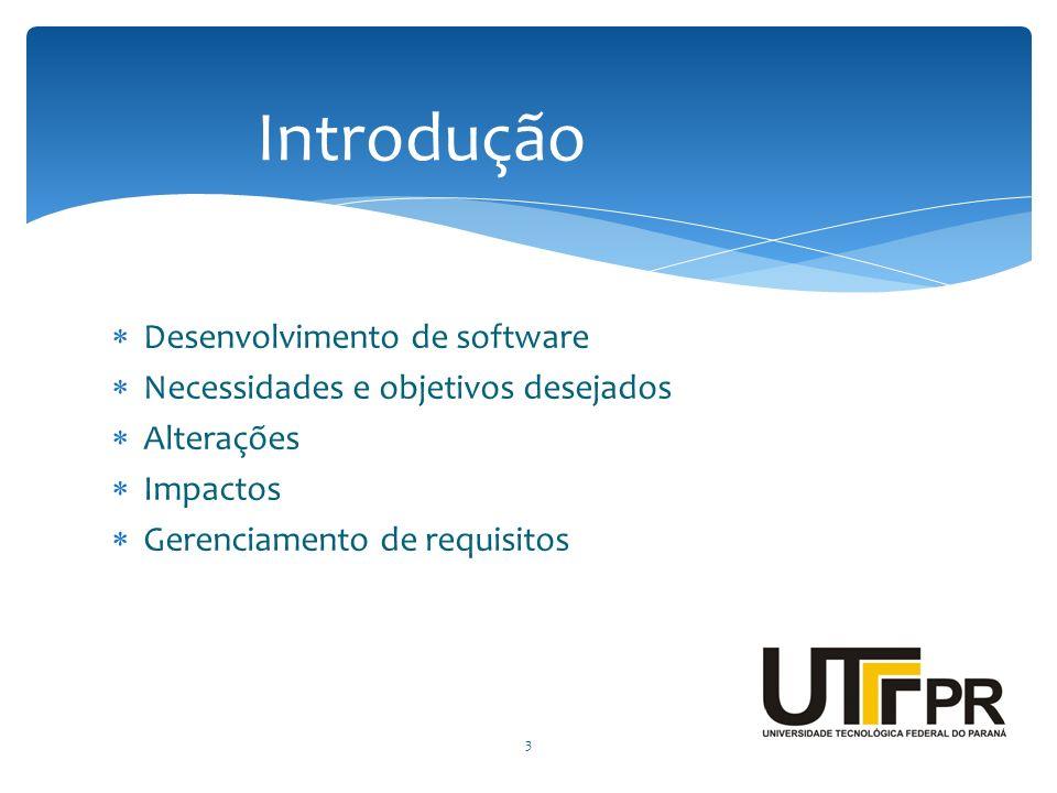 Introdução Desenvolvimento de software