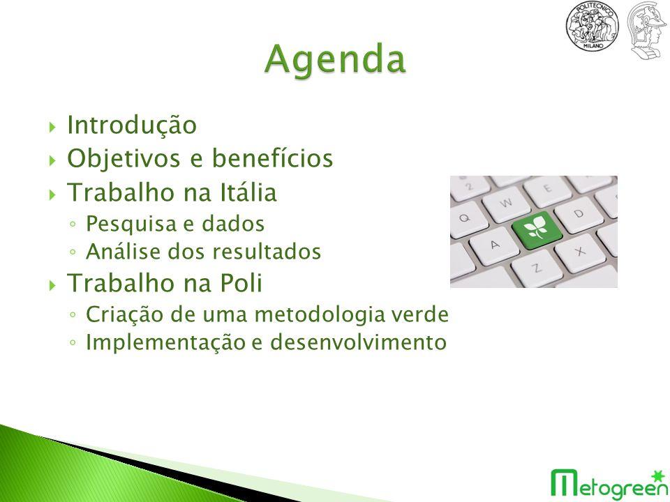 Agenda Introdução Objetivos e benefícios Trabalho na Itália