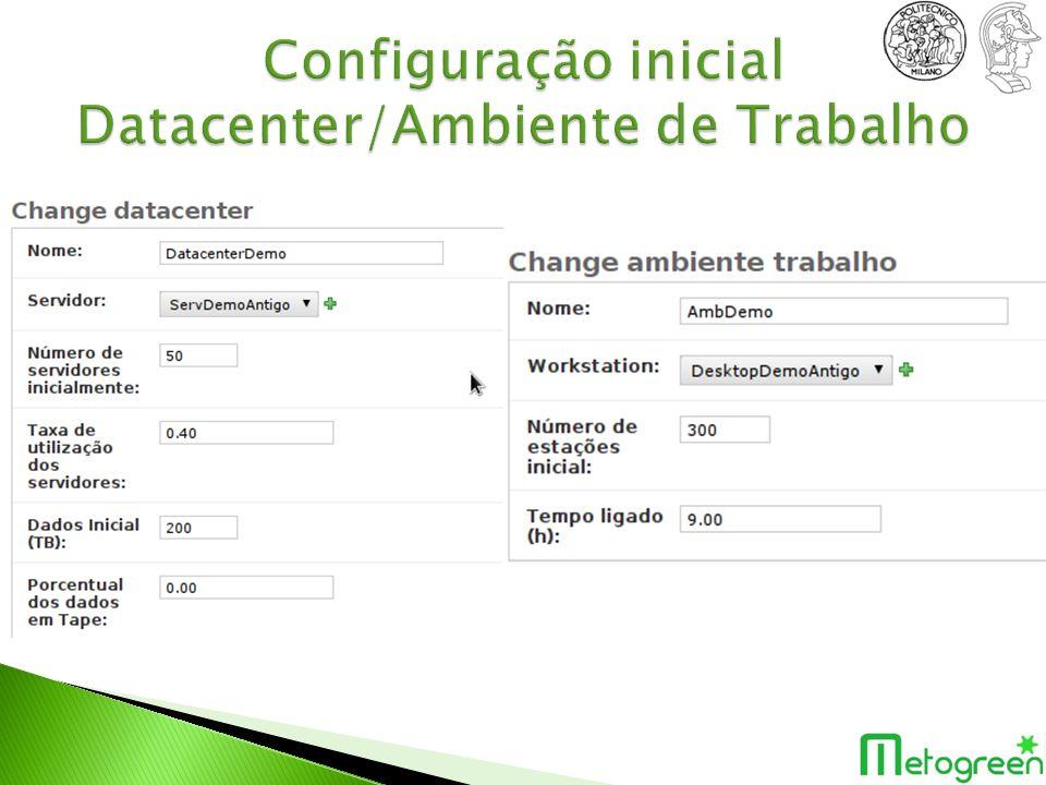 Configuração inicial Datacenter/Ambiente de Trabalho