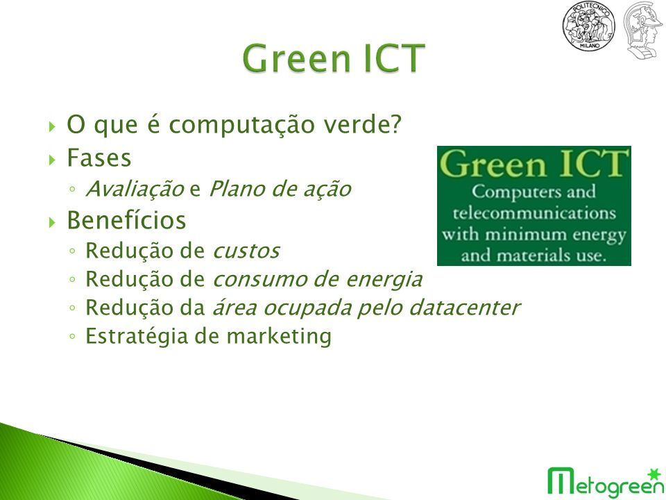 Green ICT O que é computação verde Fases Benefícios