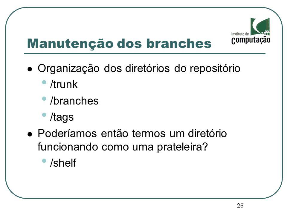 Manutenção dos branches