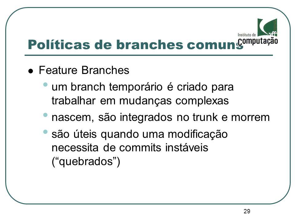 Políticas de branches comuns