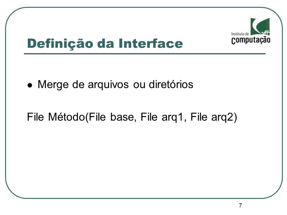Definição da Interface