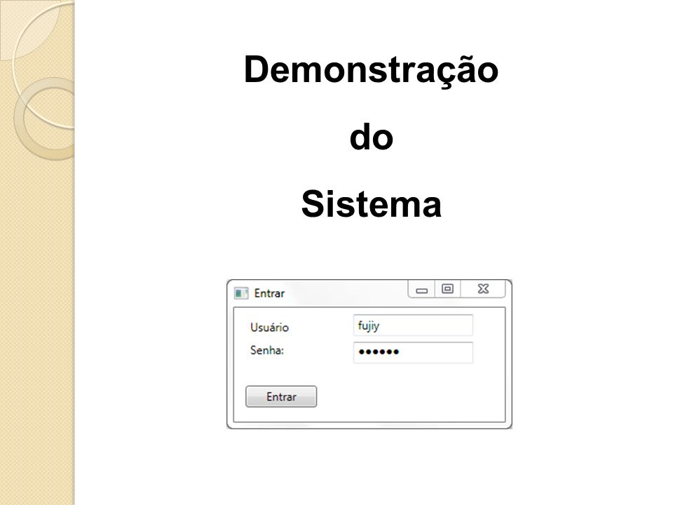 Demonstração do Sistema