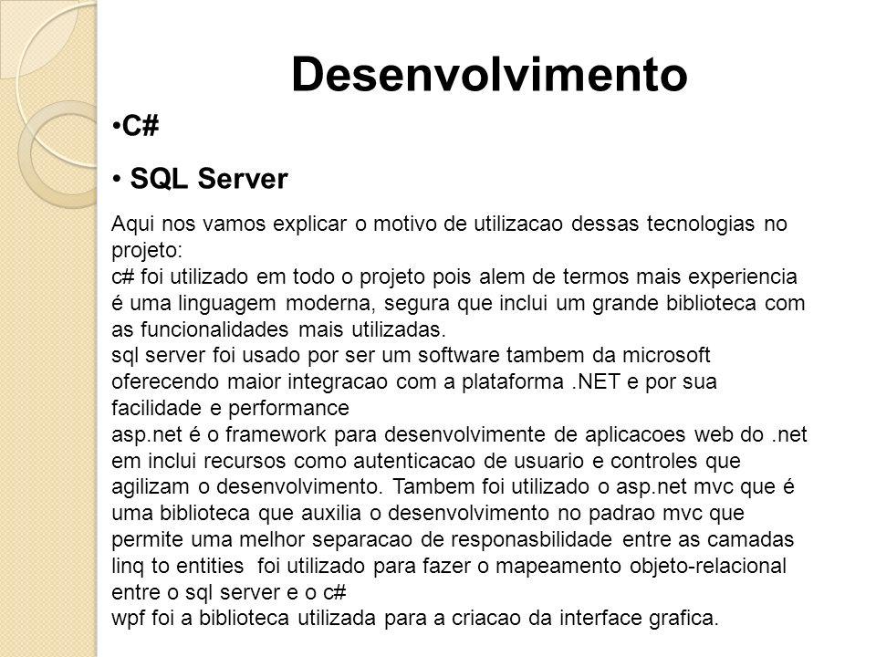Desenvolvimento C# SQL Server