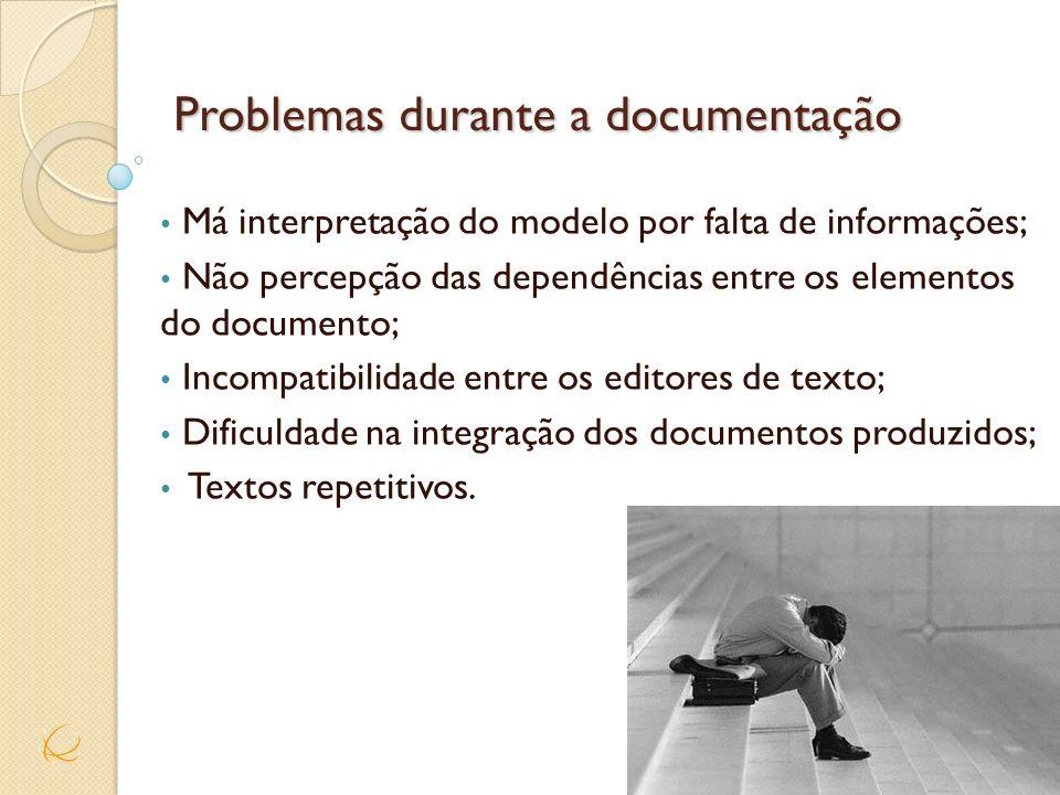 Problemas durante a documentação