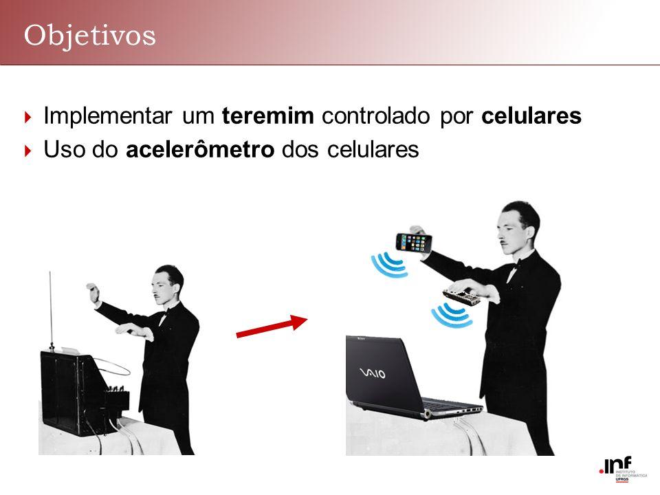Objetivos Implementar um teremim controlado por celulares