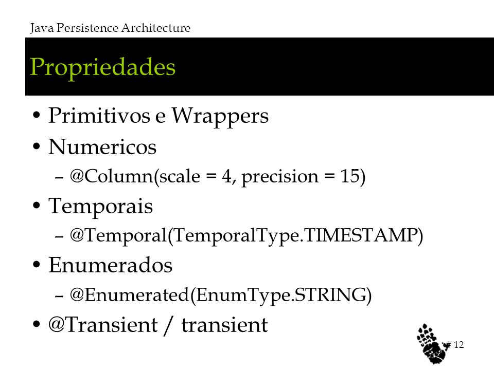 Propriedades Primitivos e Wrappers Numericos Temporais Enumerados