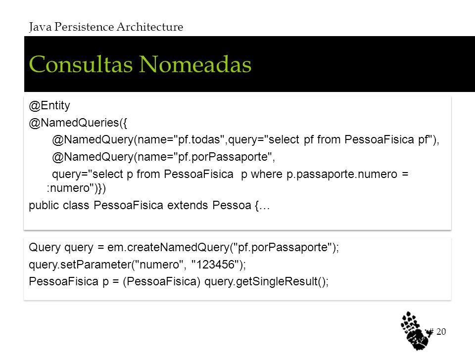 Consultas Nomeadas Java Persistence Architecture