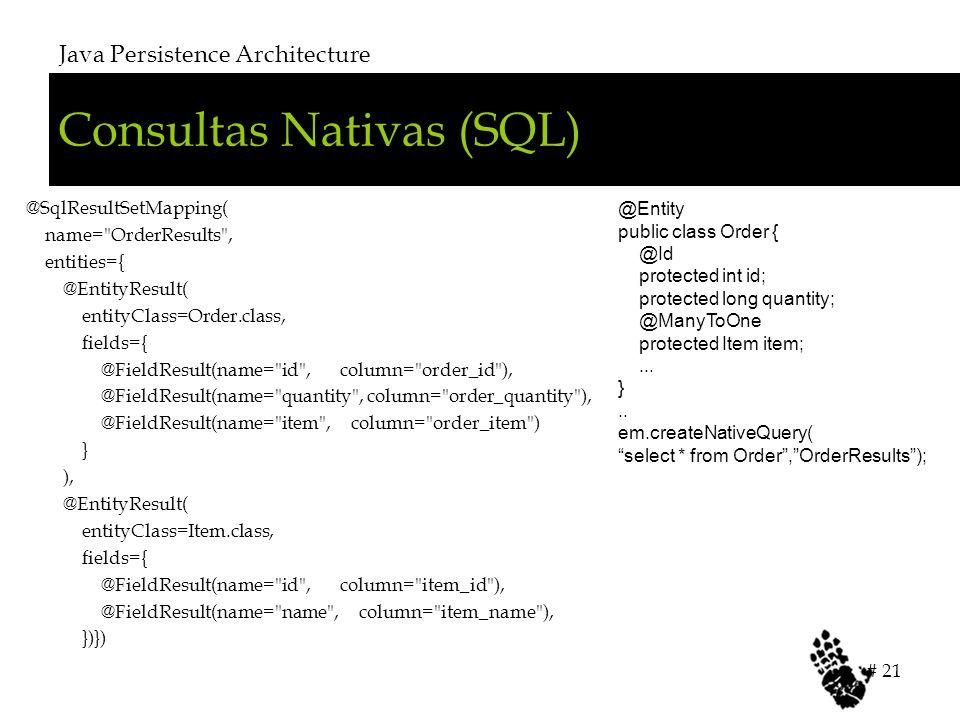 Consultas Nativas (SQL)