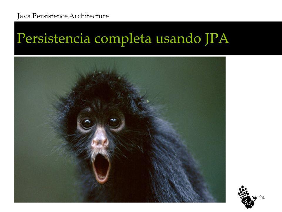 Persistencia completa usando JPA