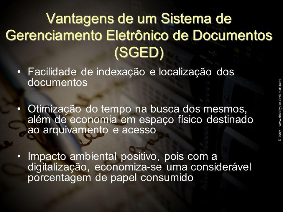 Vantagens de um Sistema de Gerenciamento Eletrônico de Documentos (SGED)