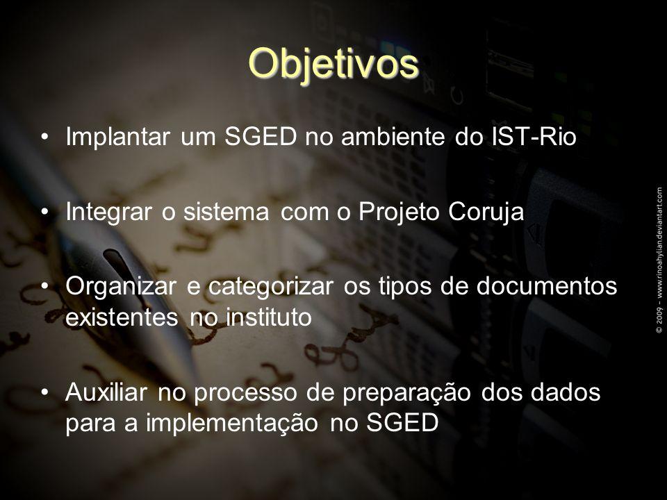 Objetivos Implantar um SGED no ambiente do IST-Rio