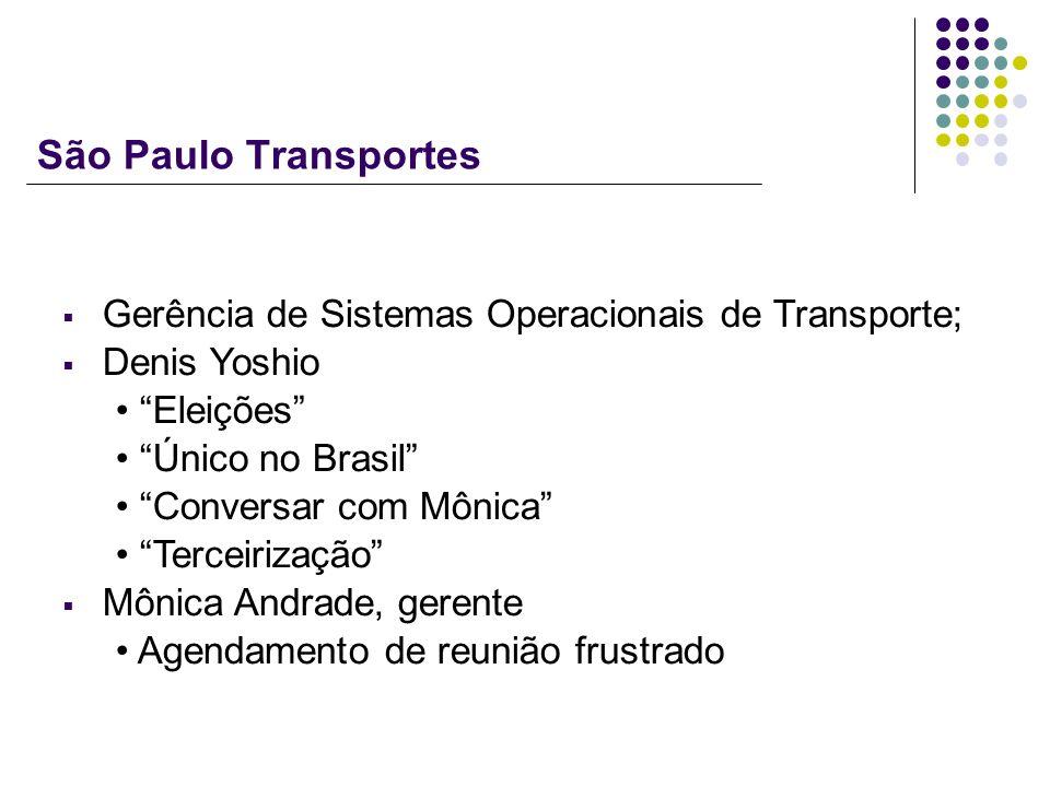 São Paulo Transportes Gerência de Sistemas Operacionais de Transporte;