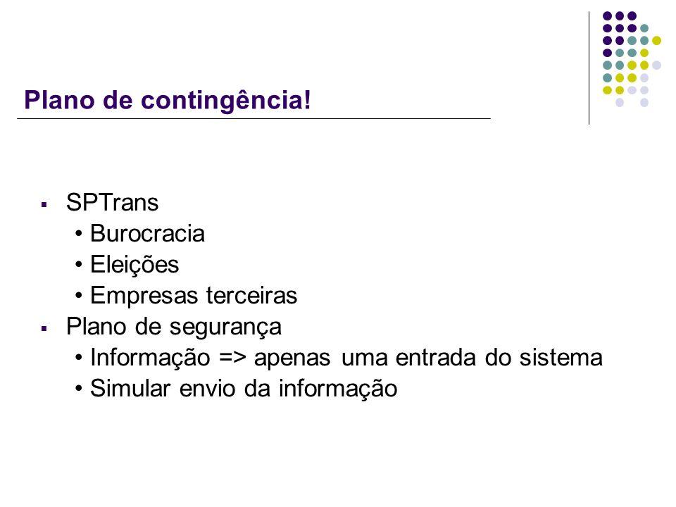 Plano de contingência! SPTrans Burocracia Eleições Empresas terceiras