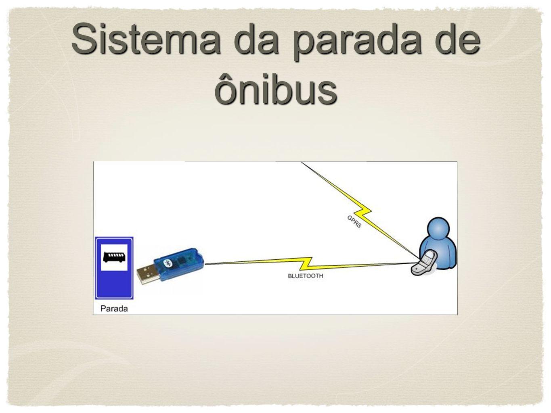 Sistema da parada de ônibus