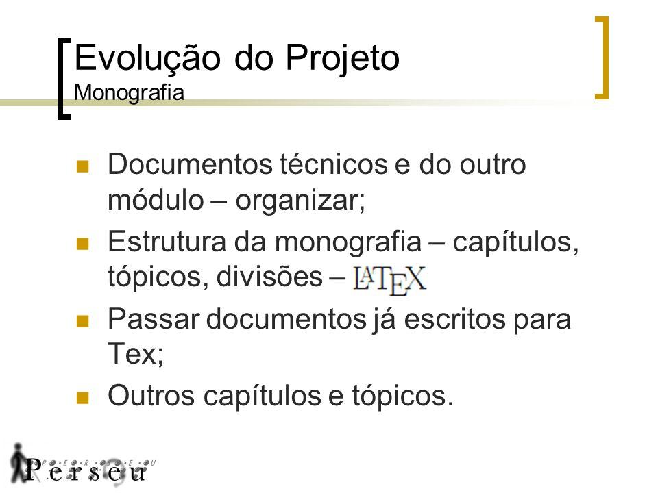 Evolução do Projeto Monografia
