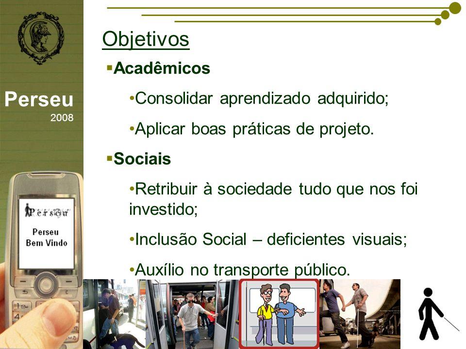 Objetivos Perseu 2008 Acadêmicos Consolidar aprendizado adquirido;